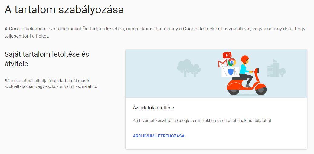 gmail mentés